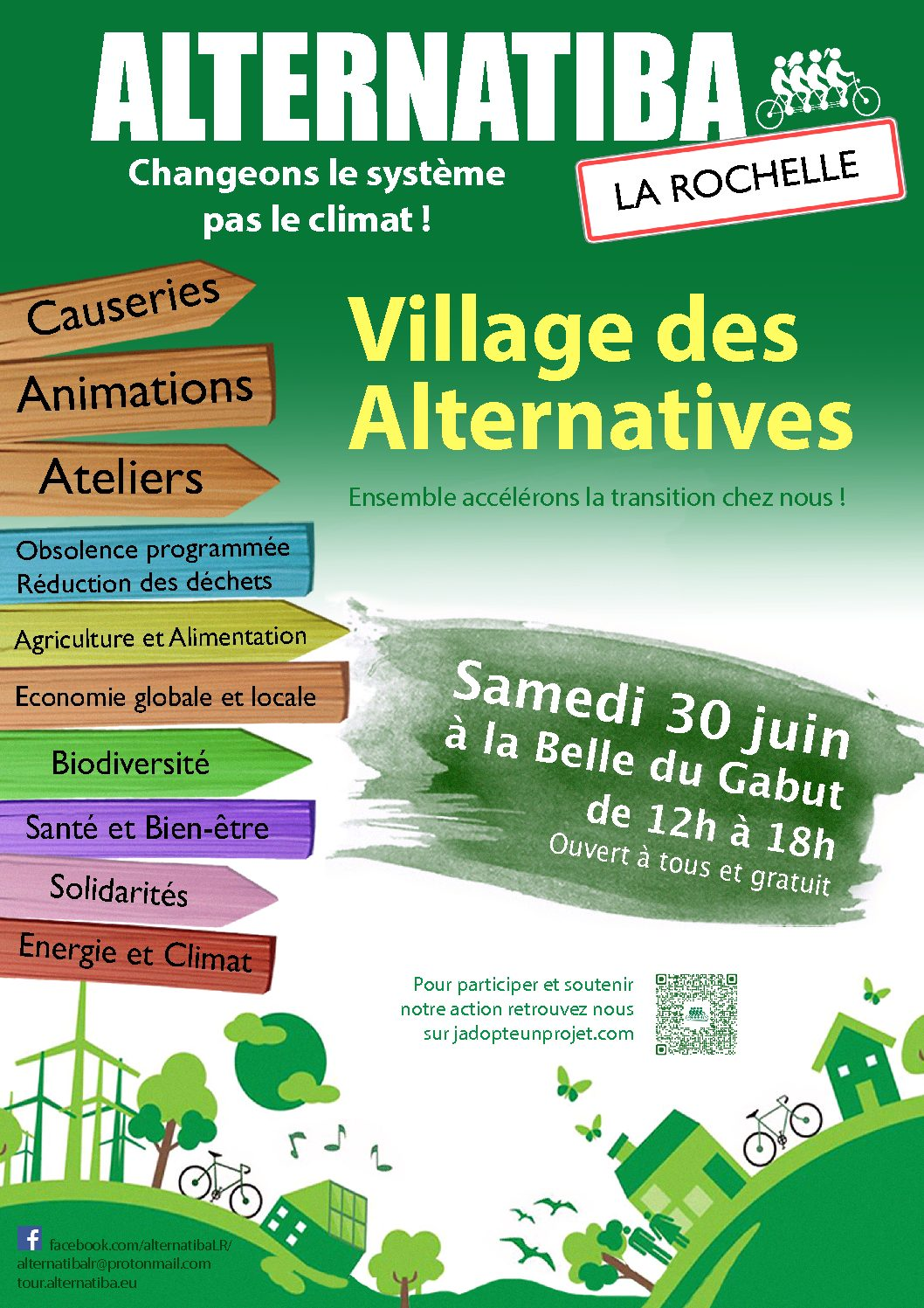 Village des alternatives Alternatiba la Rochelle