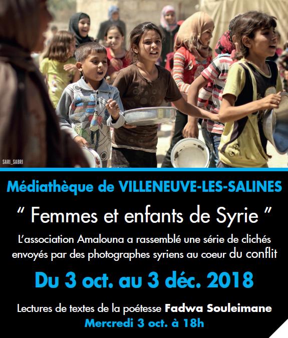Exposition Femmes et enfants de Syrie