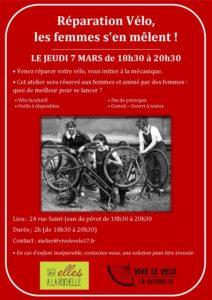Réparation Vélo, les femmes s'en mêlent ! @  Local de Vive le Vélo
