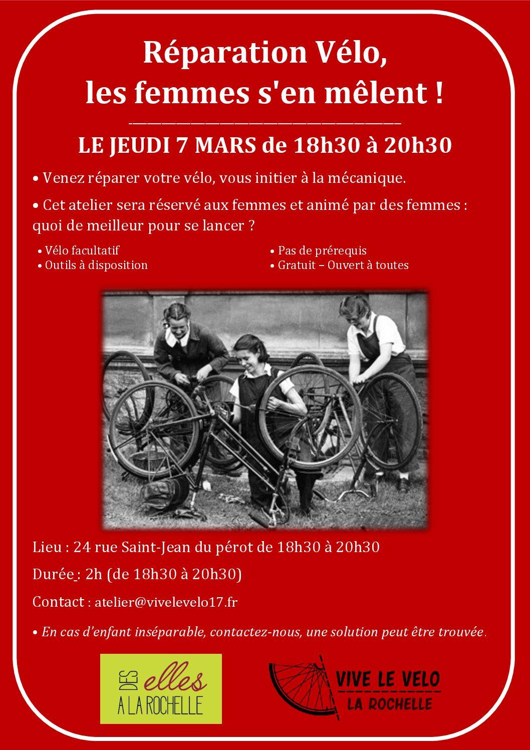 Réparation Vélo, les femmes s'en mêlent !