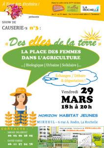 """Show de Causerie-s # 3 : """"Des Elles de la terre"""" @ Horizon Habitat Jeunes"""