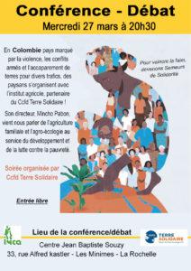 Conférence-débat - Colombie @ Centre Jean Baptiste Souzy
