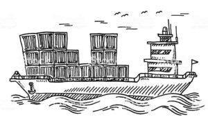 Départ d'un container pour l'ile de gorée mi juillet @ La Rochelle