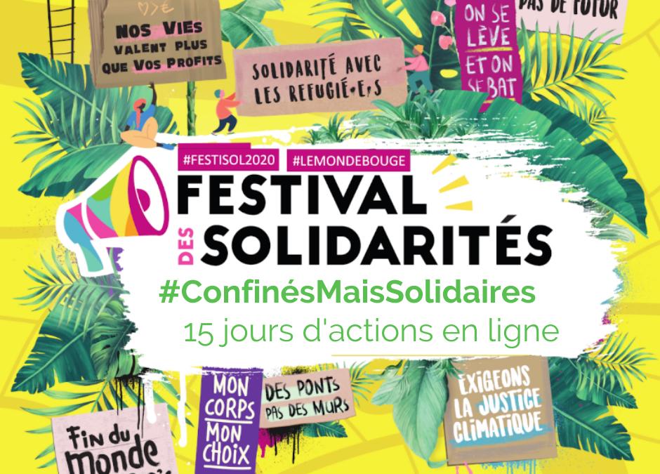 Un Festival des Solidarités  du 13 au 29 novembre… en ligne !