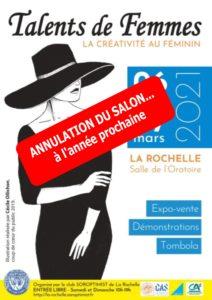 [ANNULÉ] Salon Talents de Femmes @ Salle de l'Oratoire | La Rochelle | Nouvelle-Aquitaine | France