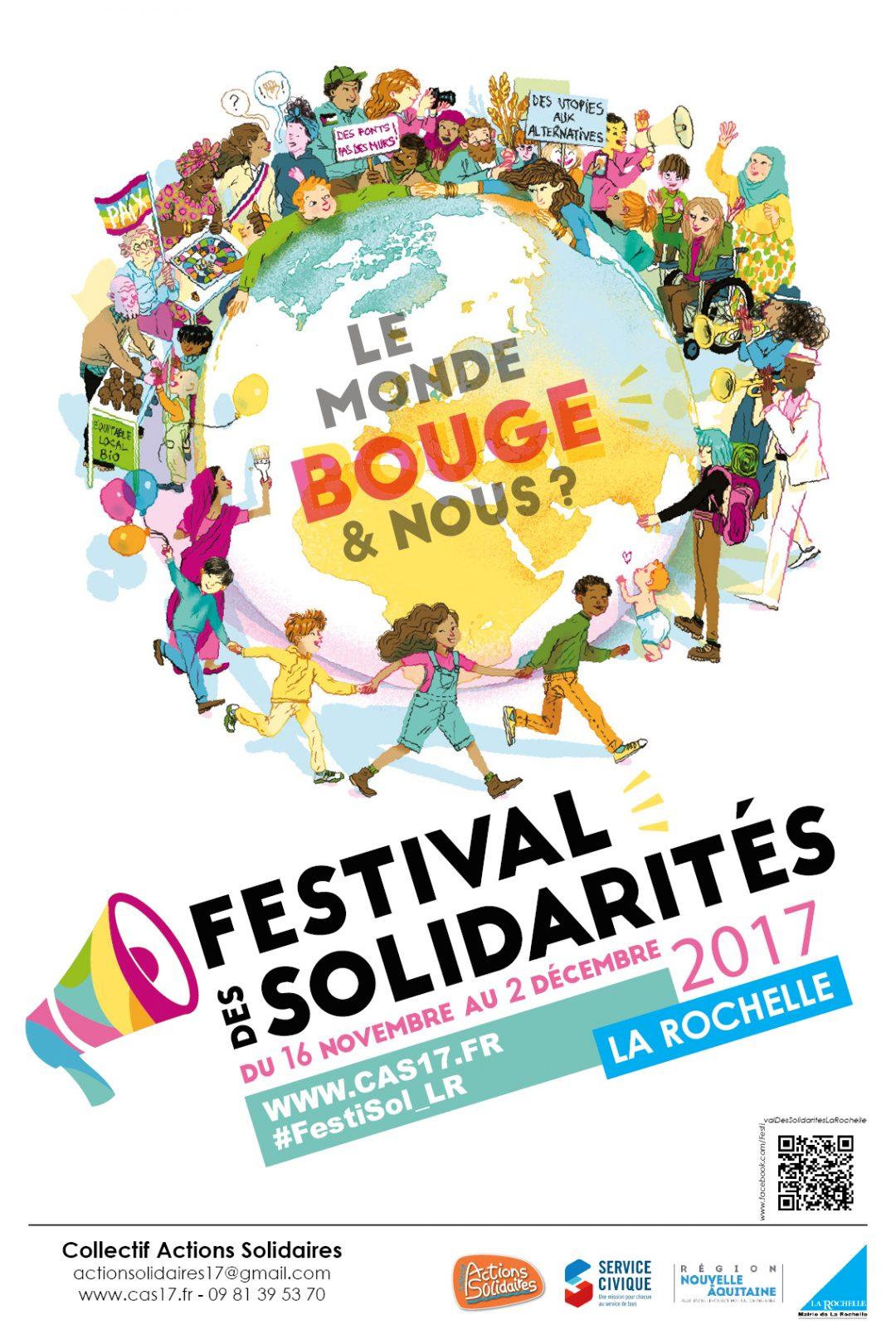 Affiche Festival des Solidarités La Rochelle 2017