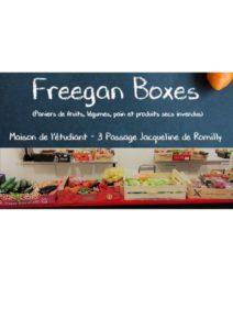 Freegan Boxes @ Maison de l'Etudiant